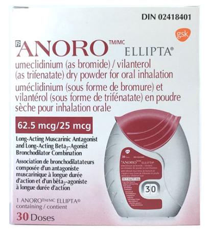 Anoro Ellipta Inhalers Online